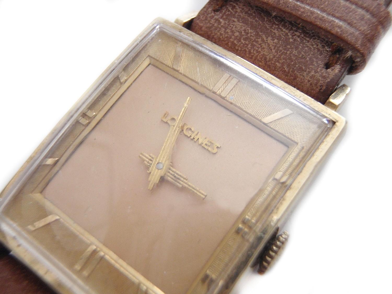 Vintage Longines Unisex Two Tone Dial Watch Unusual Ziggurat Hands