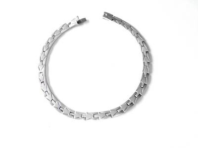 Taxco Silver Puzzle Hinged Necklace Artisan Mexican Silver