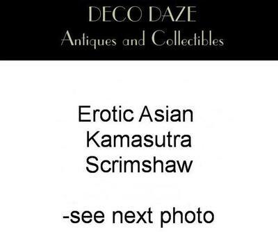 10 Panel Asian Erotic  Kamasutra Scrimshaw Wall Hanging