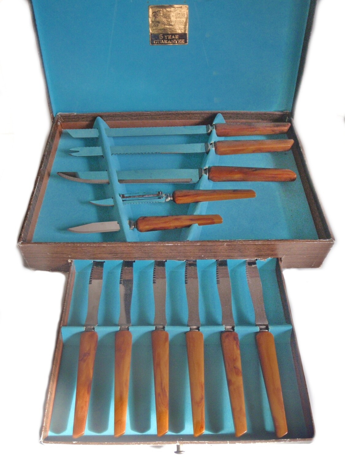 11pc Sheffield Steel Polywood Carving Set and 6 Steak Knives