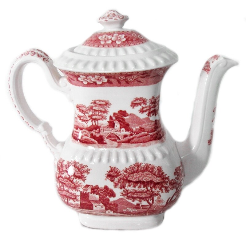 Spode Pink Tower Large 7 Cup Coffee Pot Fine Dining Entertaining