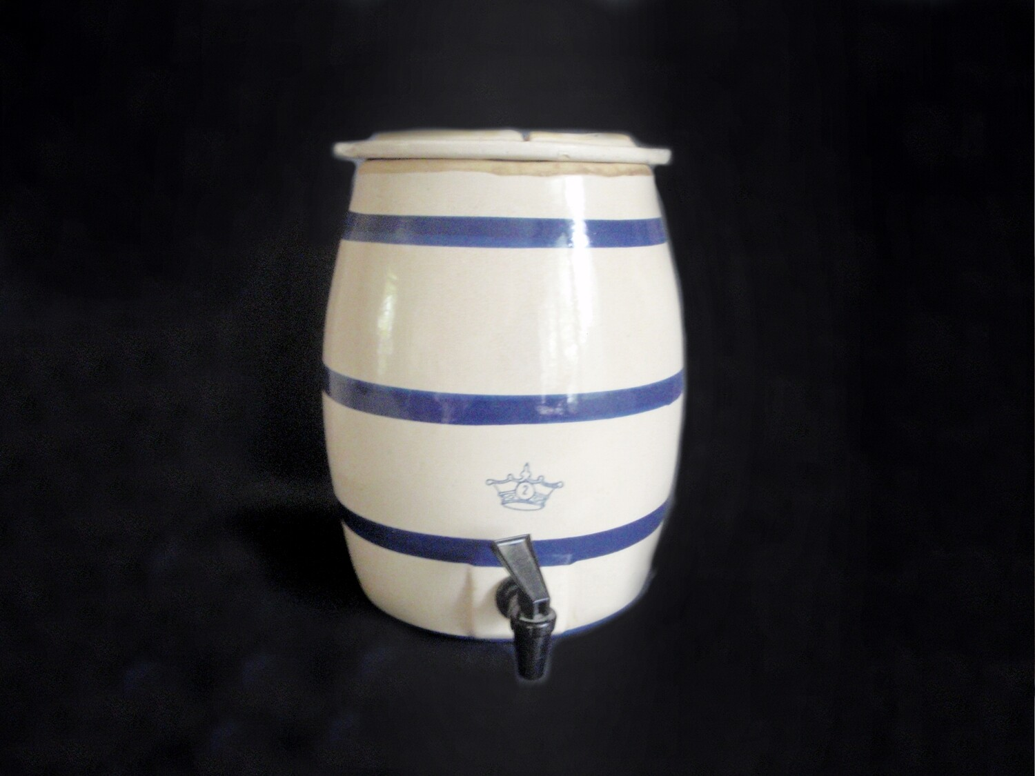 Vintage Stoneware Water Dispenser and Cooler 2 Gallon by Robinson Ransbottom