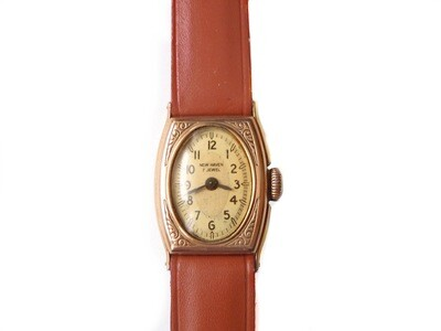 Rare 1920s New Haven Ladies Tw0 Tone Dial Watch