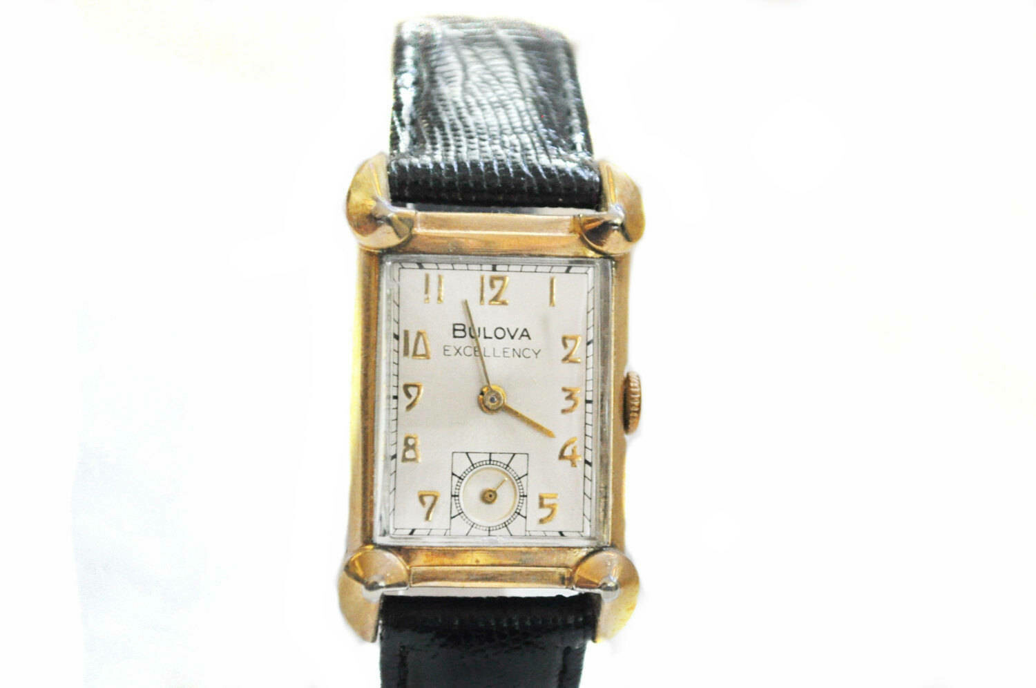 1940s Bulova His Excellency Bankers Horned Lugs Watch