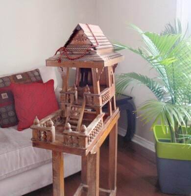 Vintage Wood Floor Shrine Spirit House Ancestor Deities Shrine