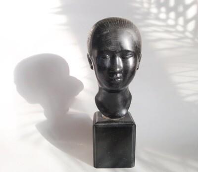 1920s Art Deco Woman Bust Sculpture Decorative Accent Statue