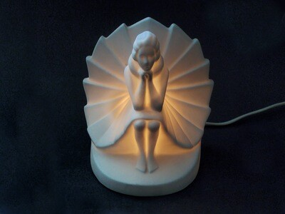 Vintage Sarsaparilla Ballerina Ceramic Accent Lamp Art Deco Designs