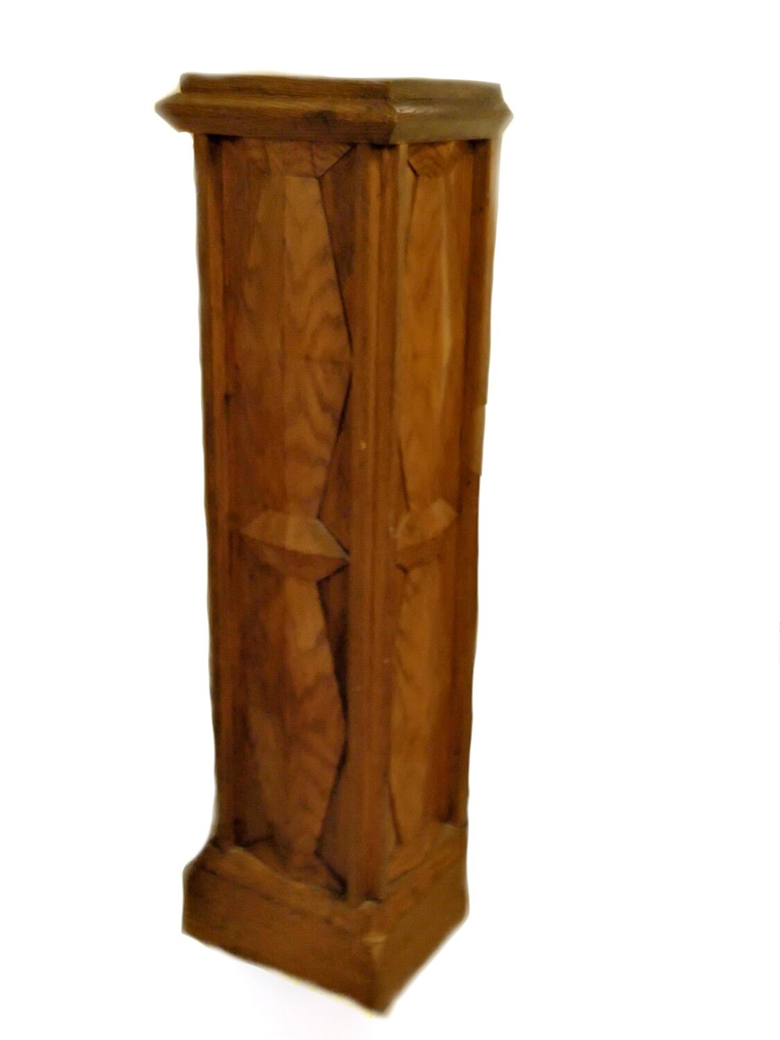 Art Deco Tall Floor Donation Box Plant Stand Valuables Safe