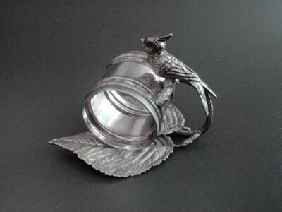 Simpson Hall Miller Quad Plate Bird Napkin Ring Holder