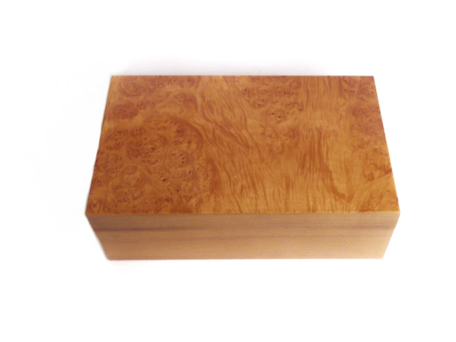 Vintage Italian Birdseye Maple Cigar Box Humidor
