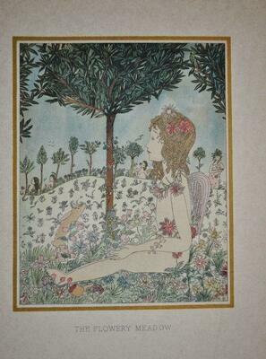 1st Edition 1919 Pamela Bianco Flora Poems Walter de la Mare