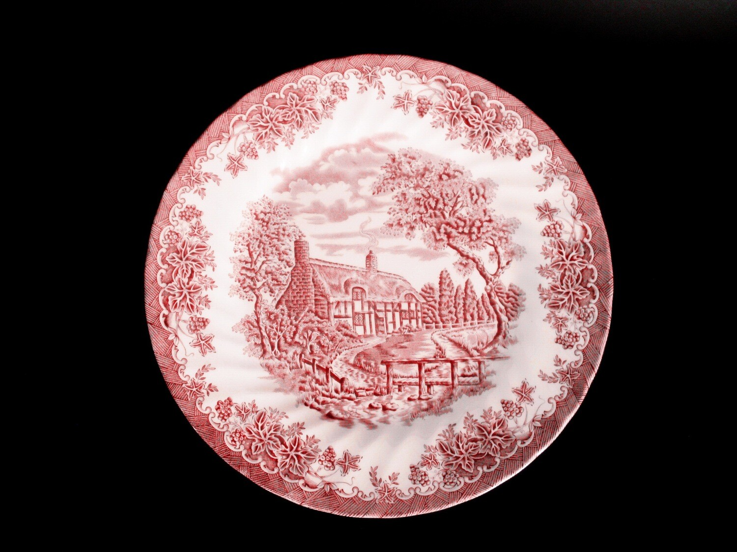 5 Vintage Churchill The Brook Red Dinner Plates
