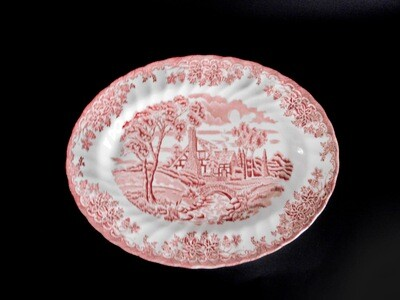 2 pc Churchil The Brook Red Platter Serving Bowl