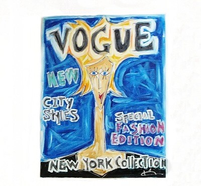Karen Couillard Original Vogue New York 1990 Painting