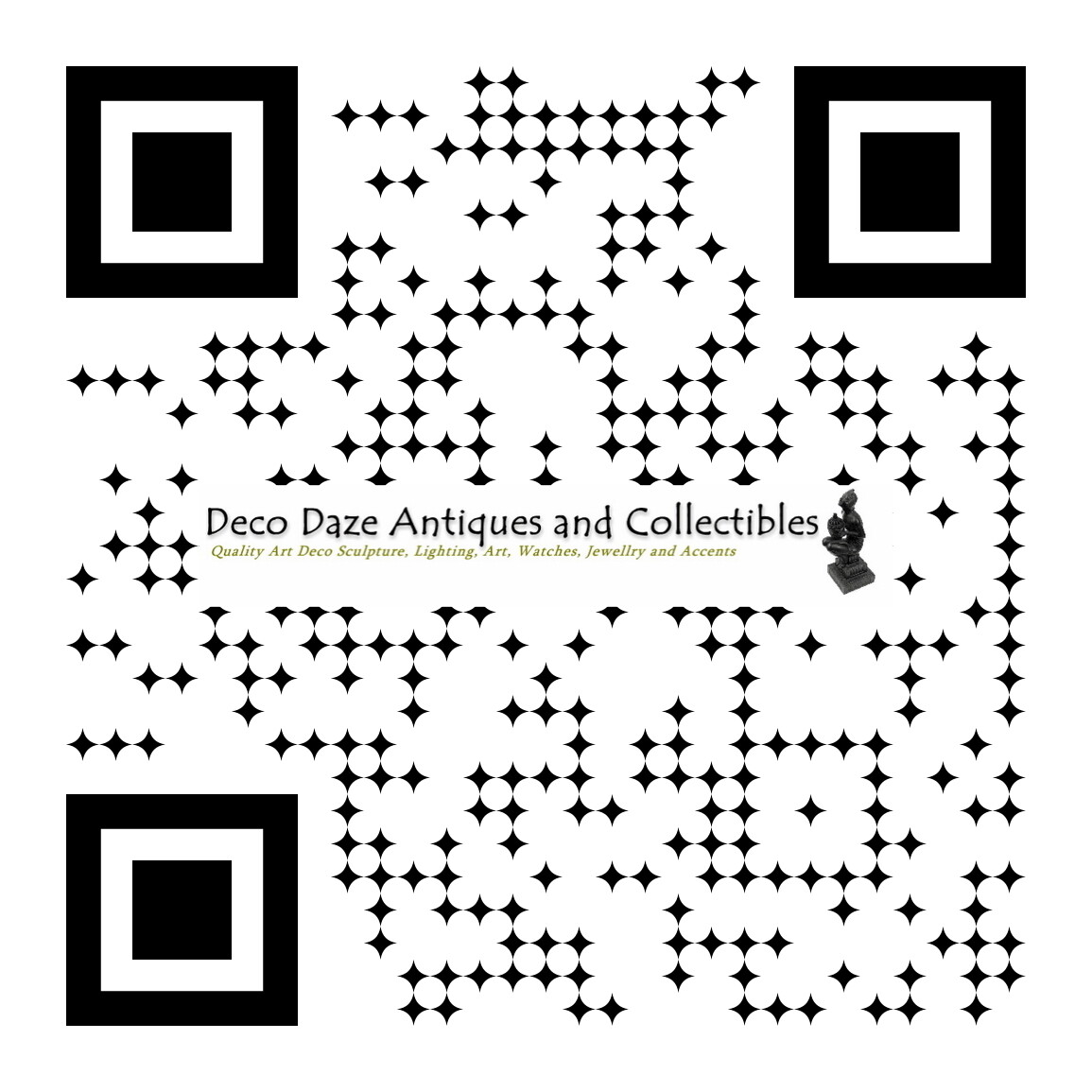Deco Daze Antiques and Vintage QR Code - Follow us