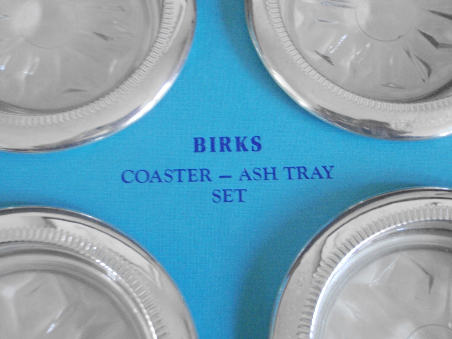 Vintage Birks Set of 4 Silver Coasters or Ashtrays