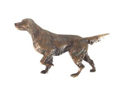 Bronze Springer Spaniel Setter Hunter Dog Sculpture