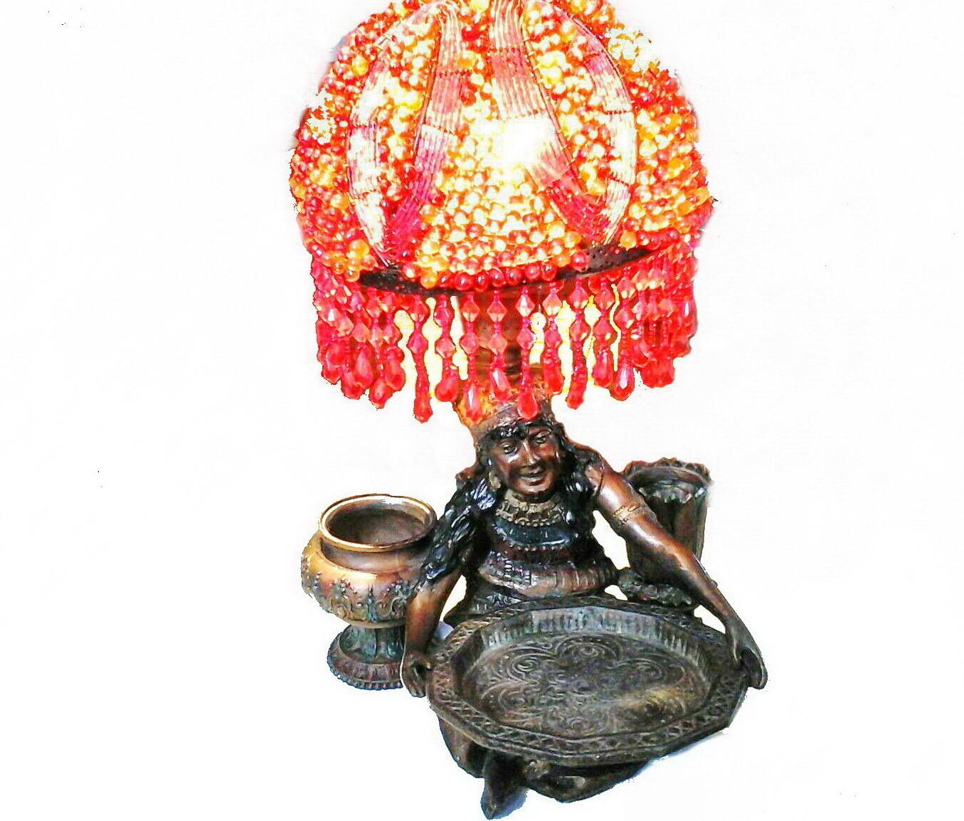 Art Deco Gypsy Fortune Teller Incense Burner Lamp