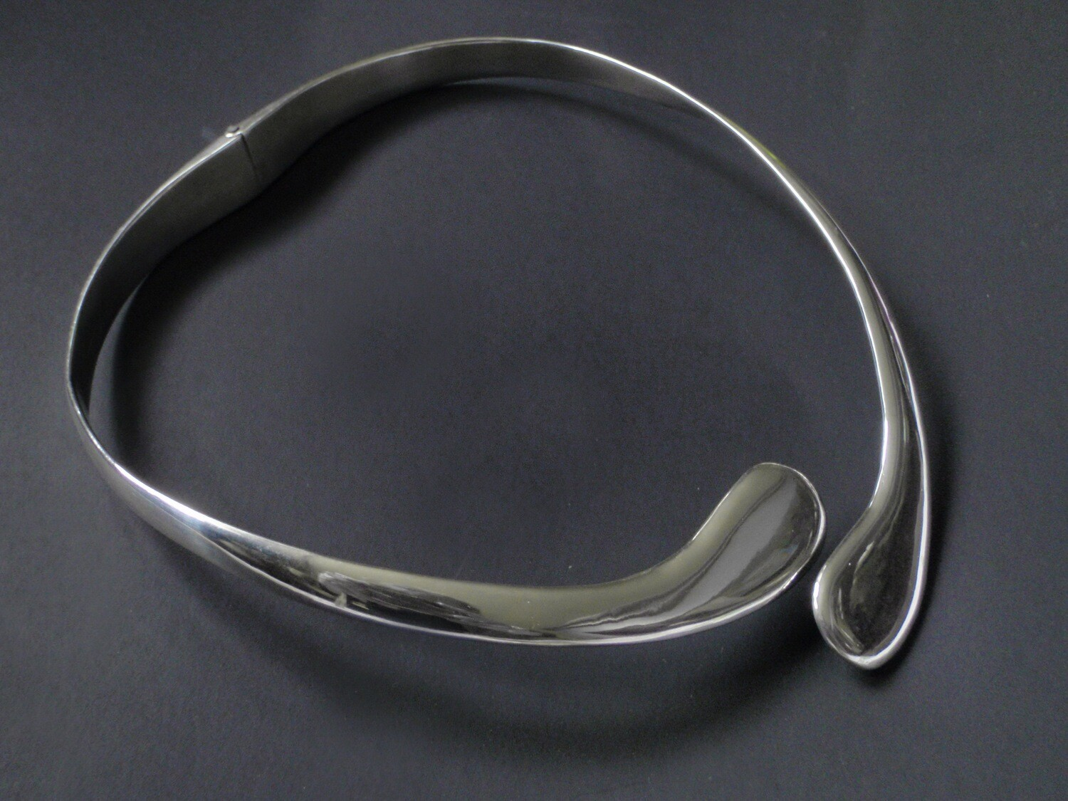 MCM Taxco Silver Hinged Collar Necklace