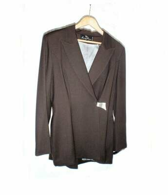 Ivoire de Laurence Wool Chocolate Brown Womens Pantsuit