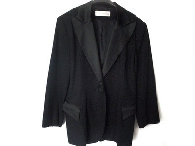 VTG Marc Christiani Ladies Wool Satin Tuxedo Jacket