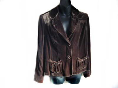 VTG Nik Zoe Chocolate Brown Velvet Jacket Blazer