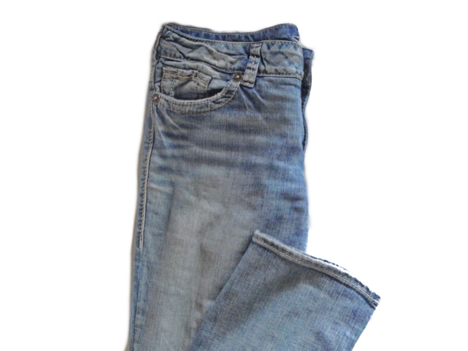90s Silver Suki Mid Rise Lades Blue Jeans 33/32