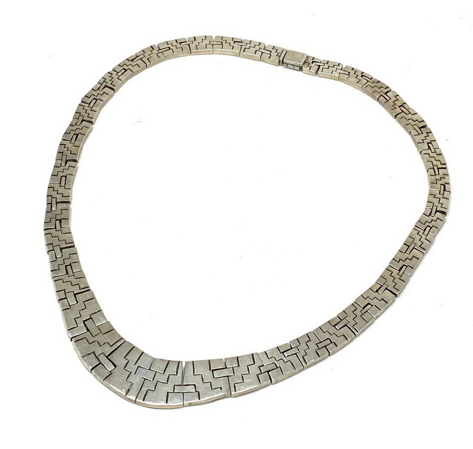 Taxco Mexico Aztec Hinged Collar Necklace 100 grams