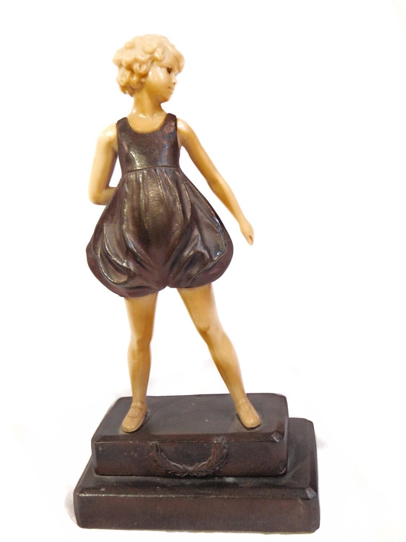 Vintage F. Preiss Little Girl Statue