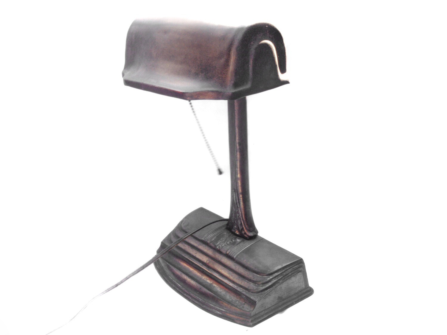 Art Nouveau Bankers Table Lamp and Pen Holder