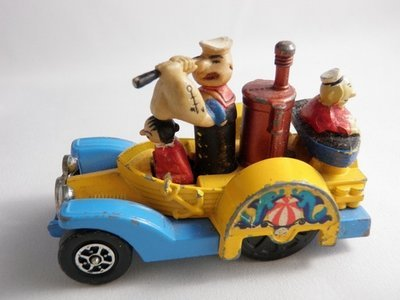 Corgi Popeye Paddle Wagon Whizz Wheels 1969 Pat. Pend.