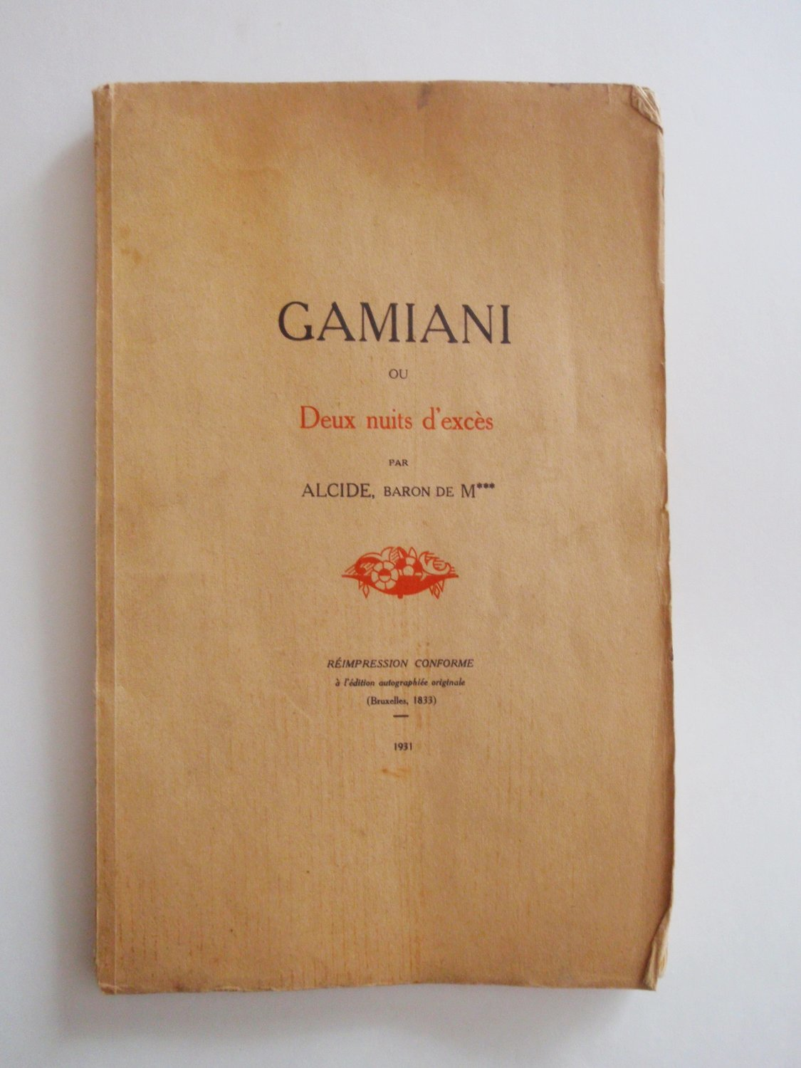 1931 Gamiani Erotica Two Nights of Excess 9 Erotic Gravure Clandestine Ltd Ed Printing