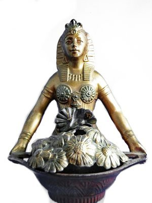 Vantines Art Deco French Egyptian Revival Lady Incense Burner