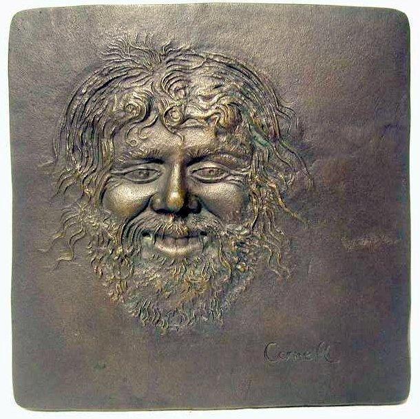 1970s J. Walter Thompson Satyr II Bronze Plaque Thomas Cornell 135 of 355