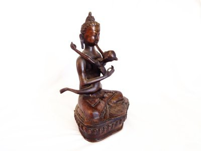 Antique Yab Yum Bronze Buddhist Prajna Dualism Sculpture