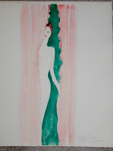Art Deco Sgd Numbered Jean-Gabriel Domergue Nude Painting