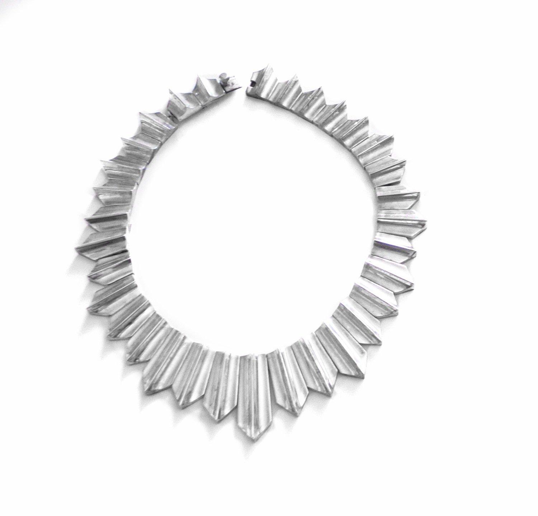 Antonio Pineda Zig Zag Necklace 163g Taxco Mexican 970 Silver