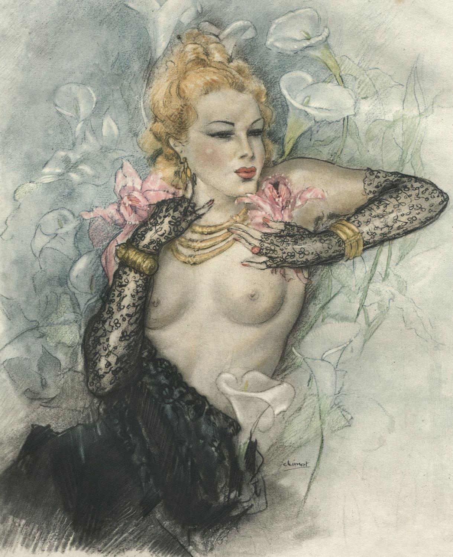 1947 Ltd Baudelaire Les Fleur Du Mal 14 EroticEdouard Chimot Illustrations