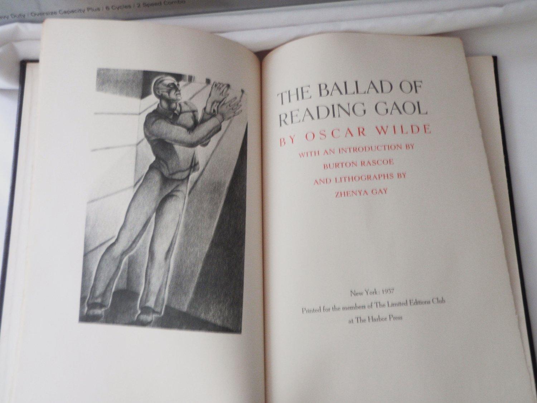 1937 Oscar Wilde The Ballad of Reading Gaol Ltd 1500 Zhenya Gay Signed