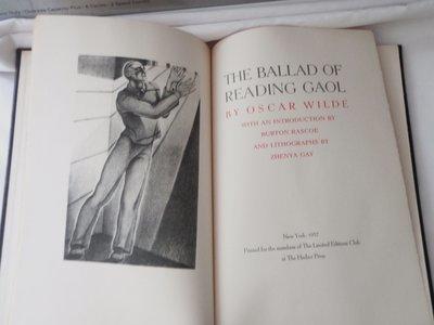 1937 Oscar Wilde The Ballad of Reading Gaol Ltd Ed 1500 - Zhenya Gay Artist Signed