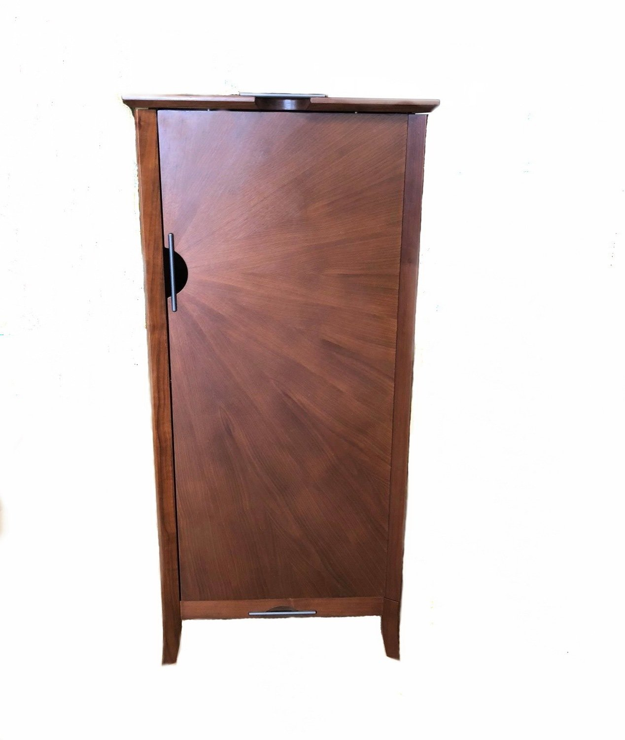 Teak Armoire Jewelry Storage Cabinet Collectibles Organizer Mirror