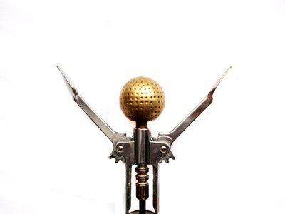 Vintage Brass Golf Ball Corkscrew Golfing Barware