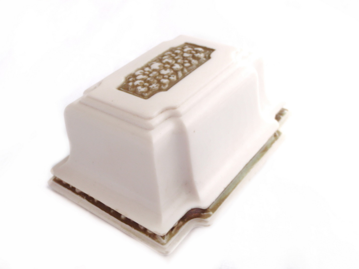 Art Deco Cellluloid White Gold Gilt Engagement Wedding Ring Box