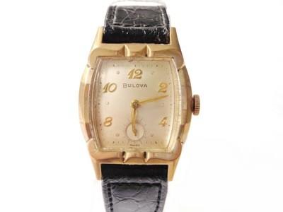 1955 Bulova Watch Scalloped Fancy Case MCM Watch