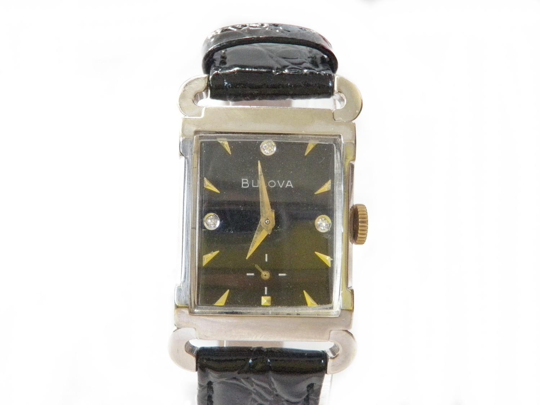RARE 1958 Bulova Watch Horn Lugs and Diamonds