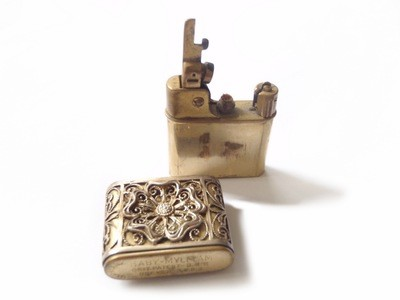 Antique Belle Epoque Filigree BABY-MYLFLAM Lighter Flower Sleeve