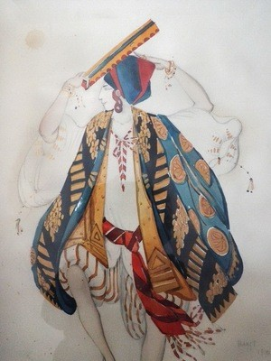 Leon Bakst Diaghilev Cleopatra Ballet Russes Judaica Watercolor
