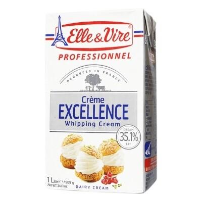 Elle & Vire Whipping Cream per 1lt