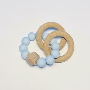 Silicone + Beechwood Teether - 2 ring