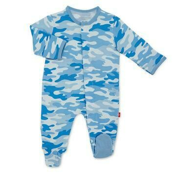 Magnetic Me Blue Camo Footie